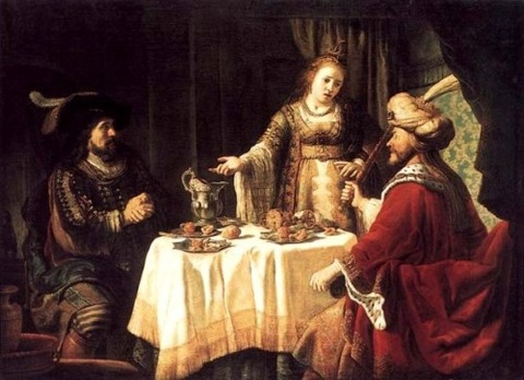 The Banquet of Esther', Jan Victors, 1640