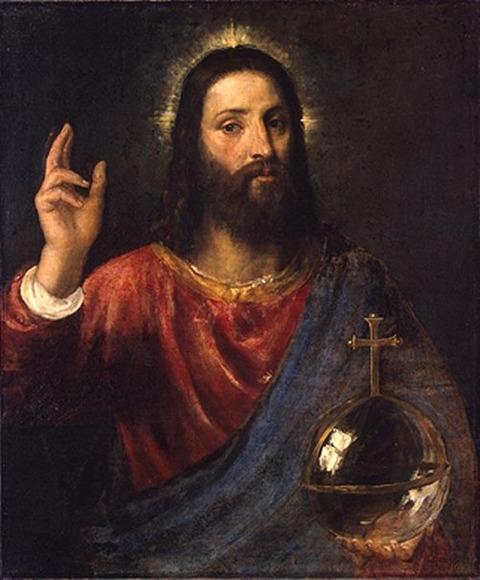 Titian's version of Salvator Mundi (1570)