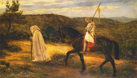 Merlin and Lancelot, 1871 - James Archer