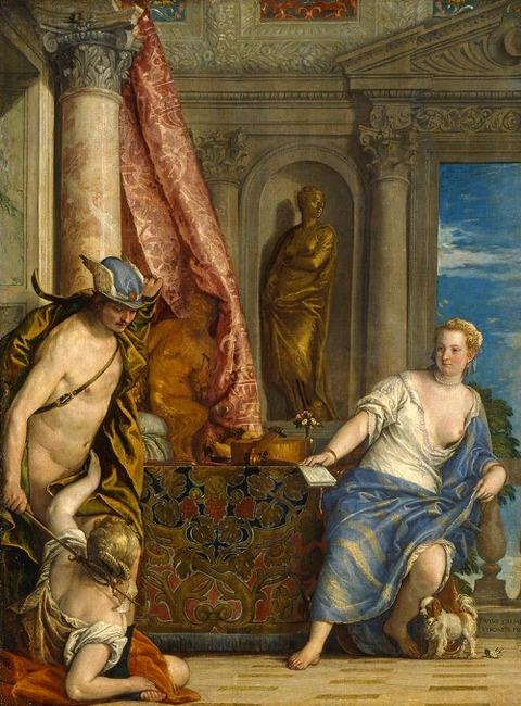 Hermes, Herse and Aglauros, 1576-84 Paolo Caliari
