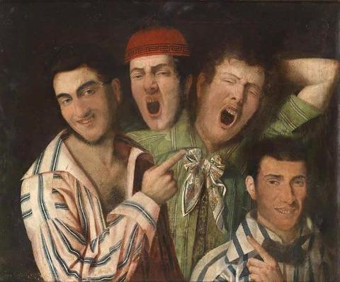 men yawning. Credit Luigi i Montejano  1850
