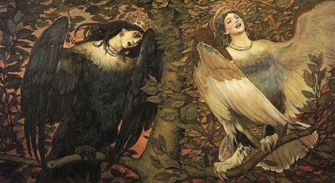Sirin and Alkonost (1896), Viktor Vasnetsov