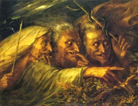 The Three Witches From Macbeth by Alexandre-Marie Colin