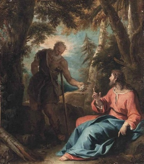 the temptation of christ in the wilderness by sebastiano ricci