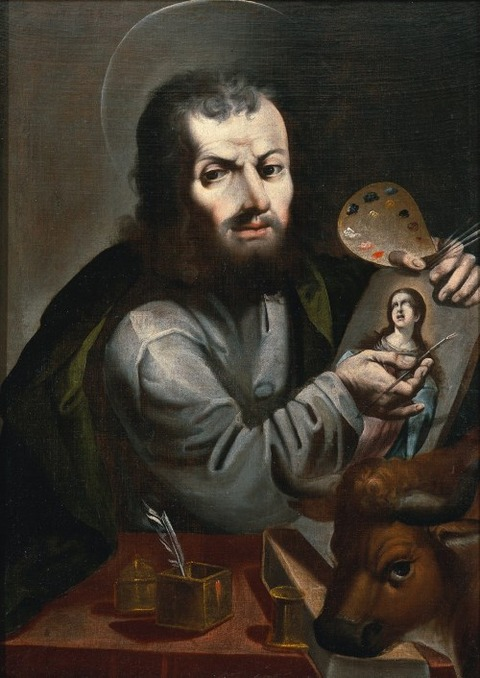 Melchor Pérez Holguin Saint Luke Painting the Virgin 1714