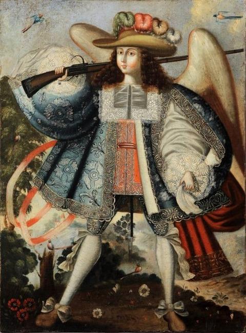 Angel Arcabucero (Spanish Colonial Arcangel of the Cuzco School)