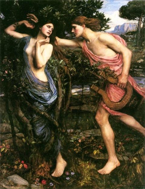 ウォーターハウス 「 アポロとダフネ 」 1908