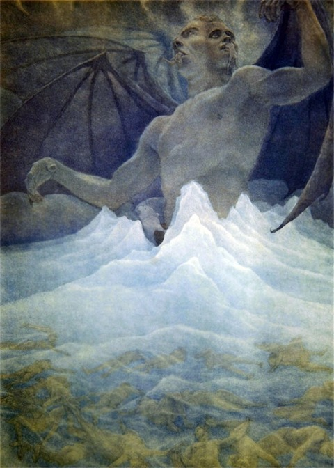 Amos Nattini, Satan resides at the centre of the frozen lake