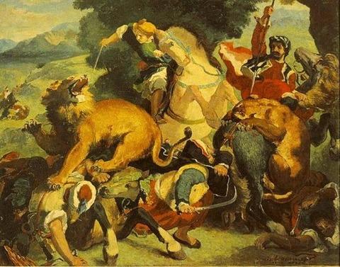 redon lion hunt