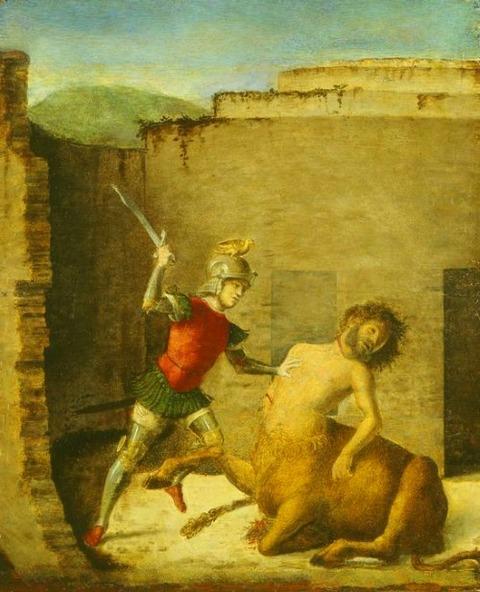 Giovanni Battista Cima da Conegliano - Theseus  Minotaur  1505