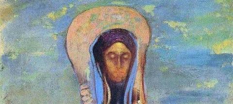 Oannes, 1910 by Odilon Redon -