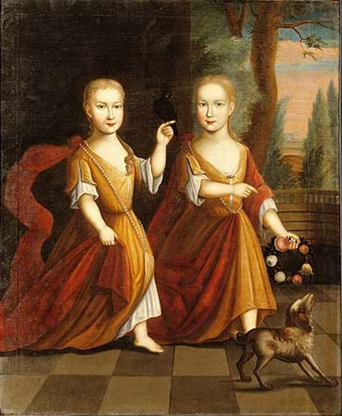 Depeyster Twins, Eva and Catherina  Depeyster Limner  1728