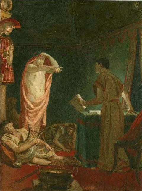 Alexandre Bida ghost of Caesar with Brutus19th
