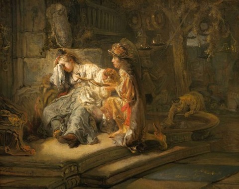 Mercury and Aglauros Carel Fabritius 1622-54