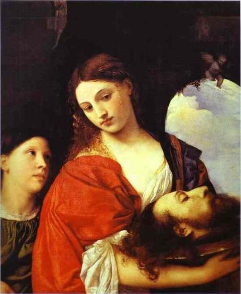 ティツィアーノ「洗礼者ヨハネの首を持つサロメ」、1515年頃