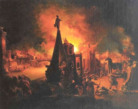 The Burning of Troy (1759-62)  Johann Georg Trautmann