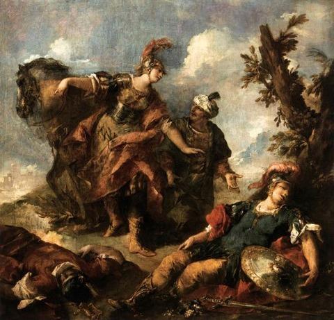 Herminia Vaprino Find Tancred  Giovanni Antonio Guardi 1750
