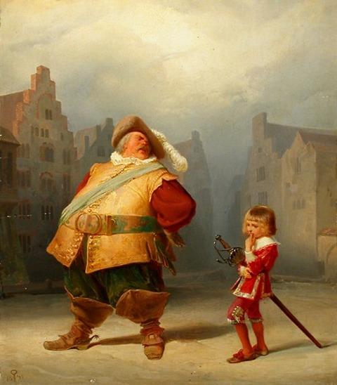 Adolf Schrödter Falstaff und sein Page 1867