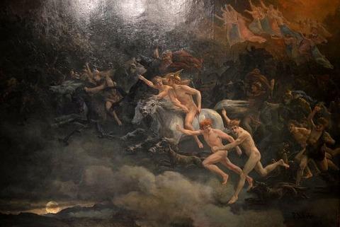 The Wild Hunt of Odin  Peter Nicolai Arbo 1868