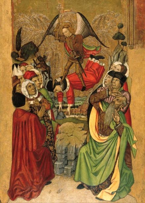 Jaume_Huguet Michael_Vanquishes Antichrist 1455-60