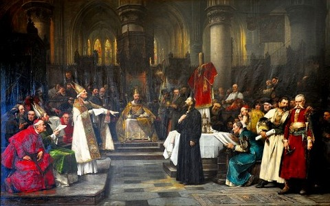 Jan Hus in Council of Constance by Václav Brožík 1883