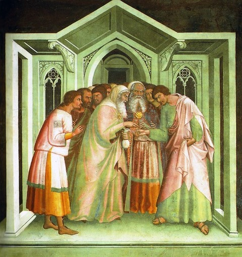 Bargain of Judas, fresco by Lippo Memmi, 14th