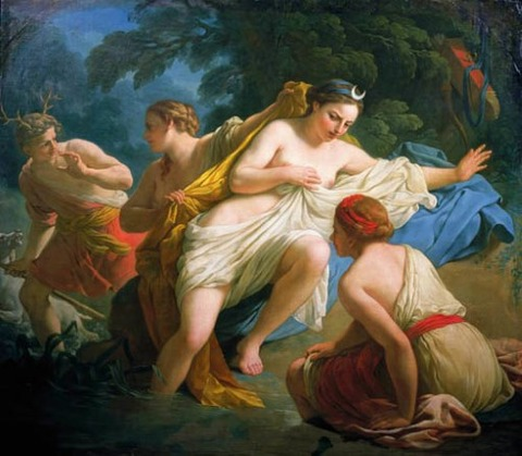 Diana and Actaeon (Louis Jean François Lagrenée