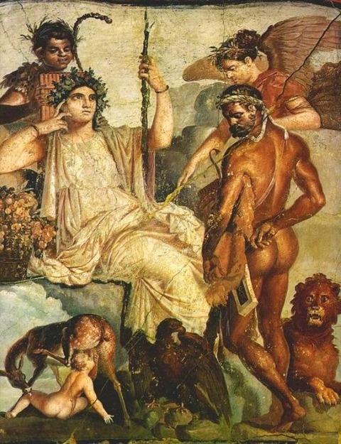POMPEII, ITALY House of the Tragic Poet Roman fresco