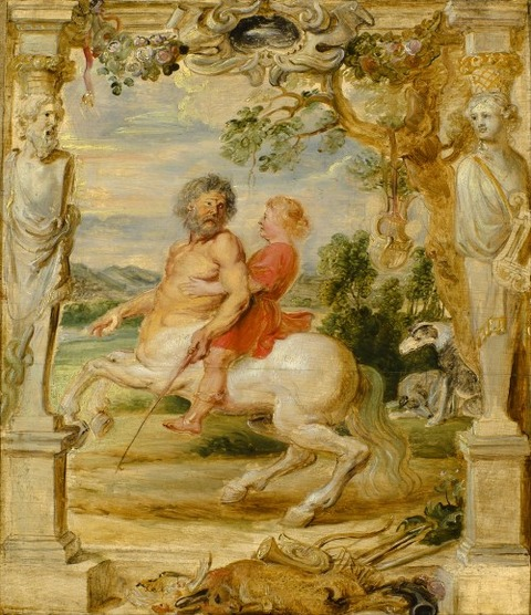 Achilles Educated by the Centaur Chiron rubens