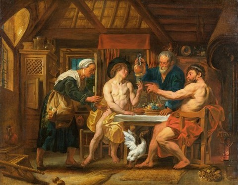 House Of Philemon And Baucis by Jacob Jordaens