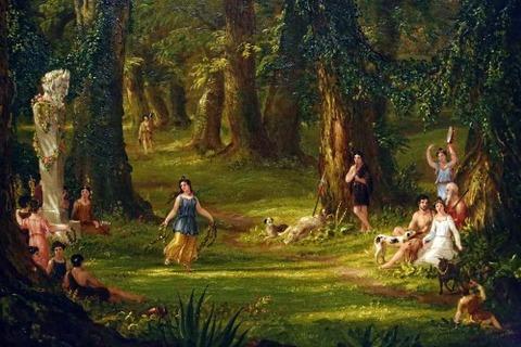 thomas Cole Dream of Arcadia, 1838