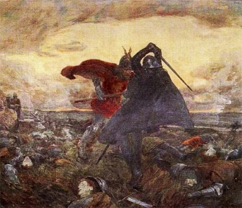 king arthur and mordred WILLIAM HATHERELL