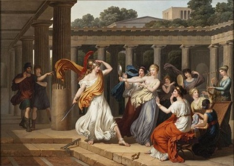 Odysseus recognises  daughters  Lycomedes  Louis Gauffier