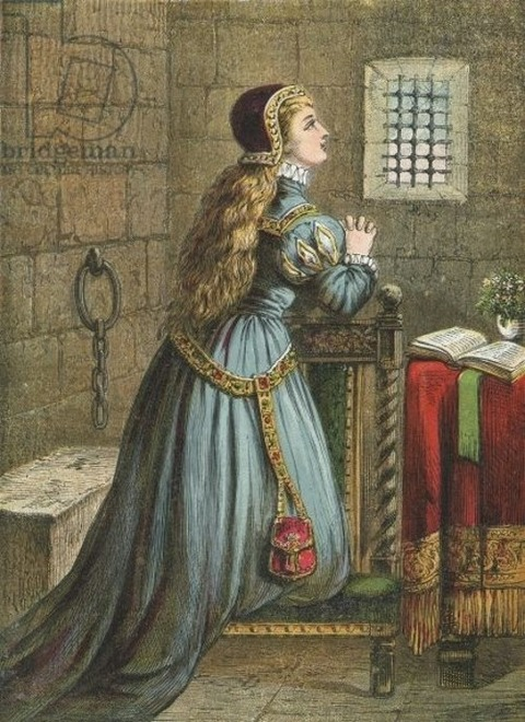 Lady Jane Grey praying  The Town and Country Toy Book