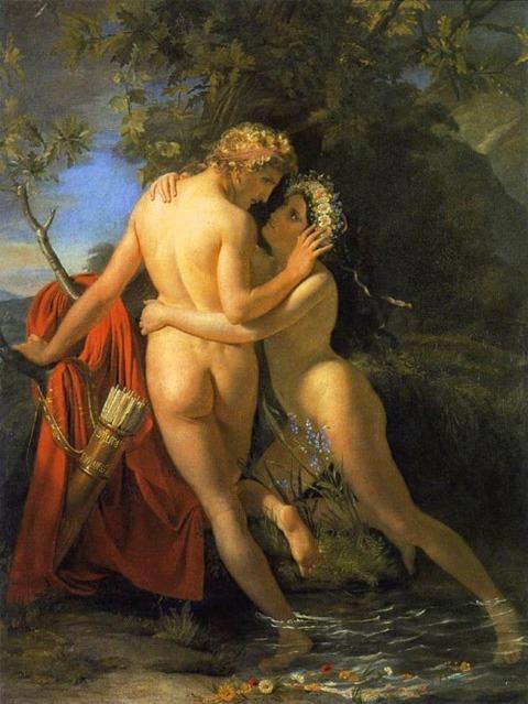 François-Joseph Navez Salmacis  Hermaphroditus 1829