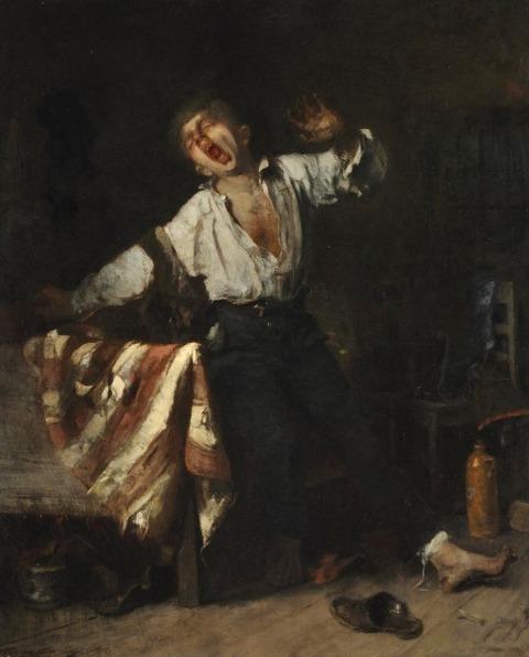 Yawning Apprentice Mihály Munkácsy  1869