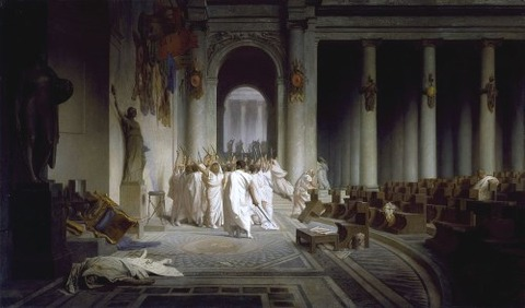 Jean-Leon_Gerome_The_Death_of_Caesar 1859-67