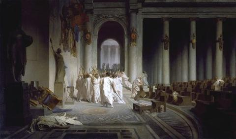 Jean-Leon_Gerome_The_Death_of_Caesar 1859-67