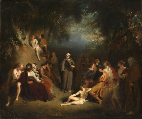 Sir Thomas Lawrence Homer Reciting his Poems 1790
