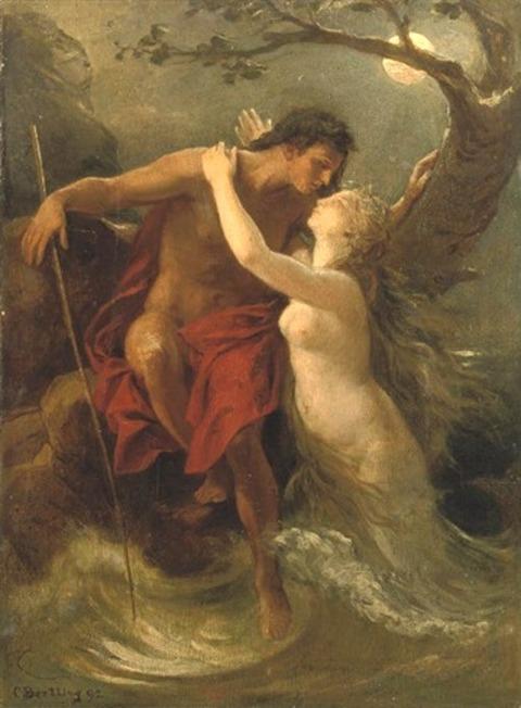 Hermaphroditus And Salmacis Oil Painting - Carl Bertling 1892