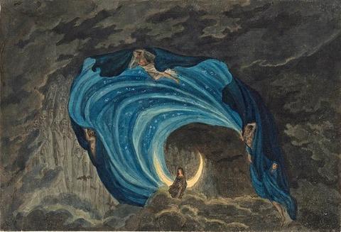 Queen Of The Night Scene For Mozart's Magic Flute Simon Quaglio