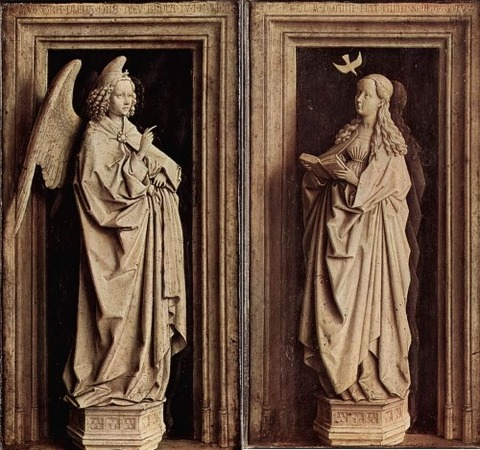 The Annunciation Diptych by Jan van Eyck 1433–35