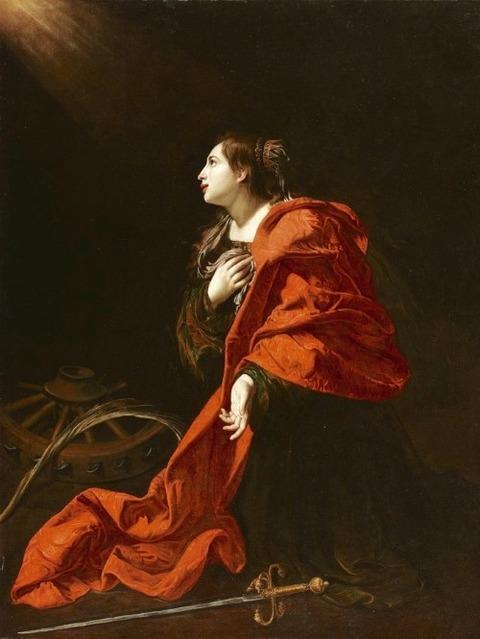 Bartolomeo Cavarozzi Santa Catalina de Alejandría