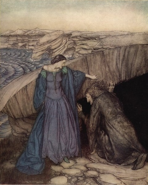 Merlin and Nimue Arthur Rackham 1917