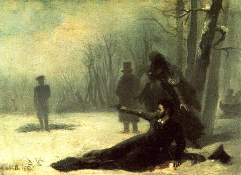 Duel Alexander Pushkin and Georges d'Anthès 1869 Adrian Volkov