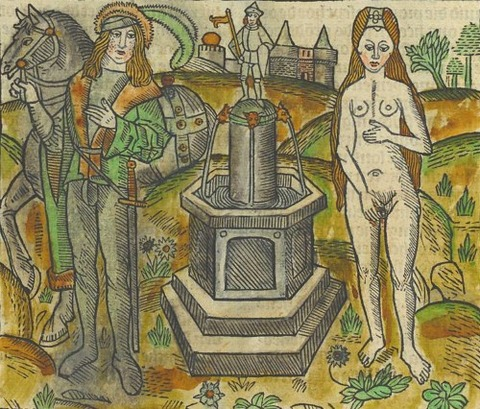 Legend of Melusine  Antwerp 1491  Melusine and Counte Raymond