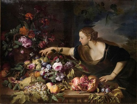 Woman_Grasping_Fruits_-_Abraham_Brueghel
