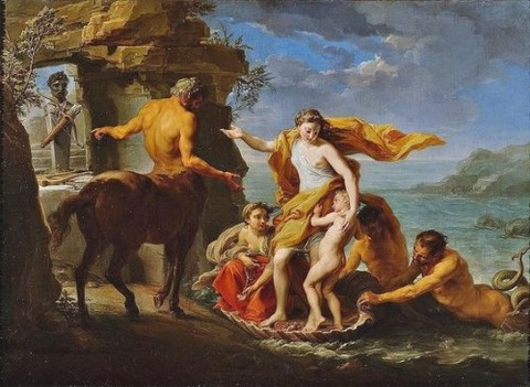 Achilles to the centaur Chiron 1746 Pompeo Batoni