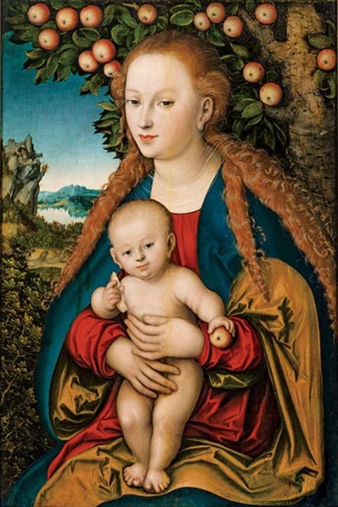 ルカス・クラーナハ《林檎の木の下の聖母子》