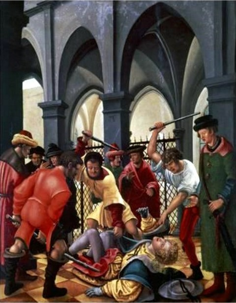 Martyrdom of St, Florian, 1516, by Albrecht Altdorfer